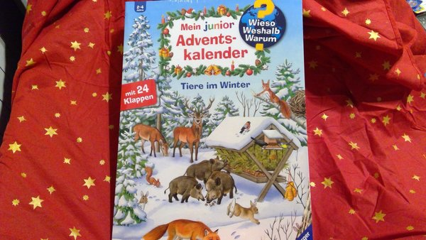 Ravensburger Mein junior Adventskalender Tiere im Winter